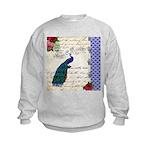 Vintage peacock collage Kids Sweatshirt