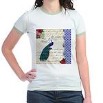 Vintage peacock collage Jr. Ringer T-Shirt