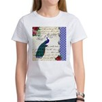 Vintage peacock collage Women's T-Shirt