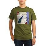 Vintage peacock collage Organic Men's T-Shirt (dar