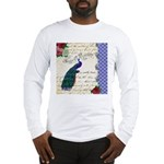 Vintage peacock collage Long Sleeve T-Shirt