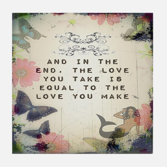 Vintage_Chick Love You Make Tile Coaster