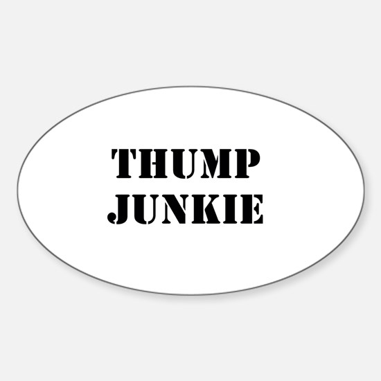 Thump Junkie Sticker (Oval)