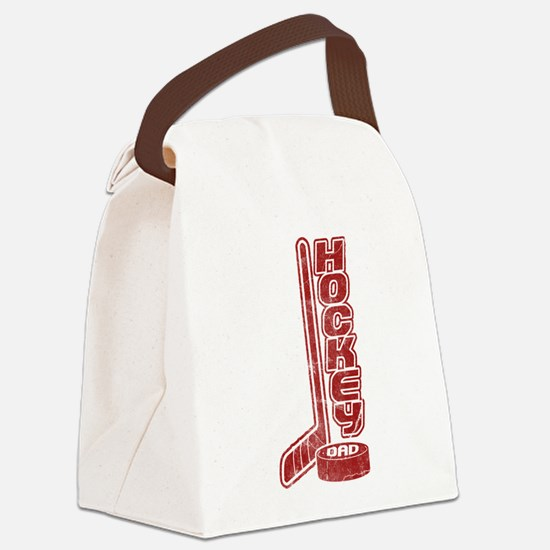 Hockey Dad (stick puck) Canvas Lunch Bag