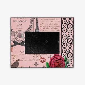 Vintage Pink Paris Collage Picture Frame