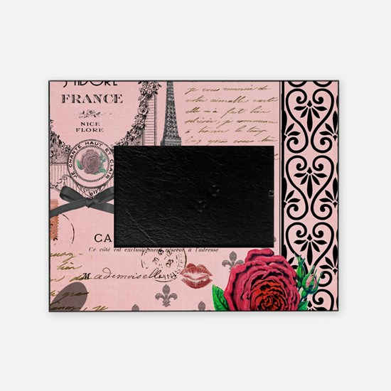 Vintage Pink Paris Collage Picture Frame