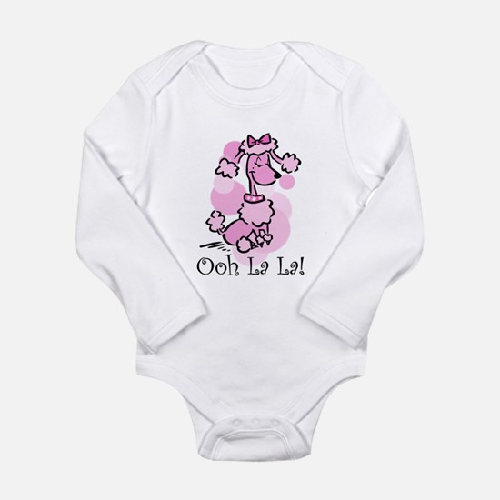 Ooh La La Poodle Long Sleeve Infant Bodysuit