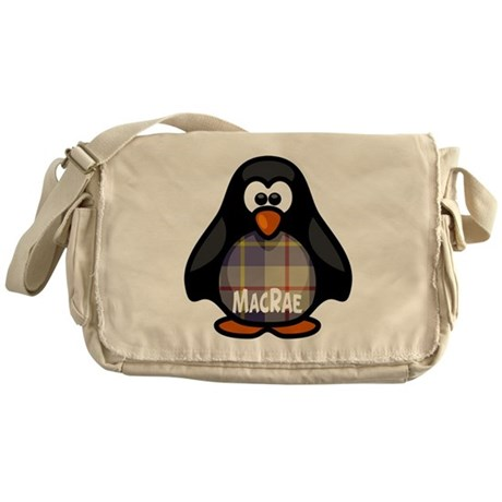 MacRae Tartan Penguin Messenger Bag