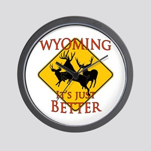 Wyoming is better Wall Clock
