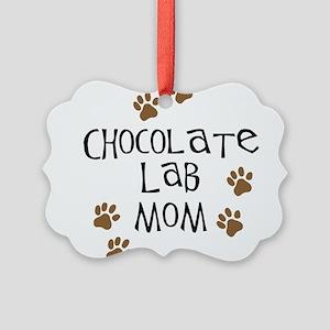 chocolate lab mom Picture Ornament