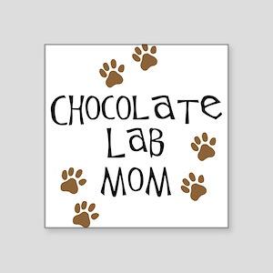 "chocolate lab mom Square Sticker 3"" x 3"""