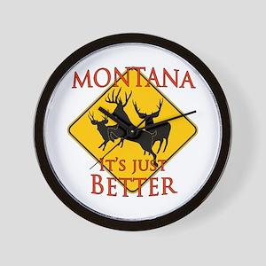 Montana is better Wall Clock