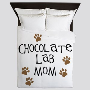 chocolate lab mom Queen Duvet