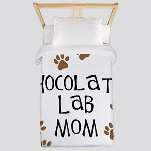 chocolate lab mom Twin Duvet