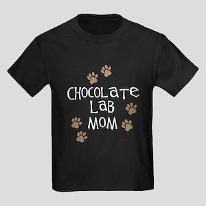 chocolate lab mom wh Kids Dark T-Shirt