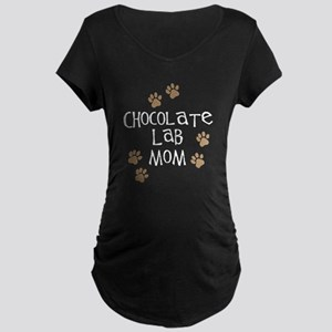 chocolate lab mom wh Maternity Dark T-Shirt