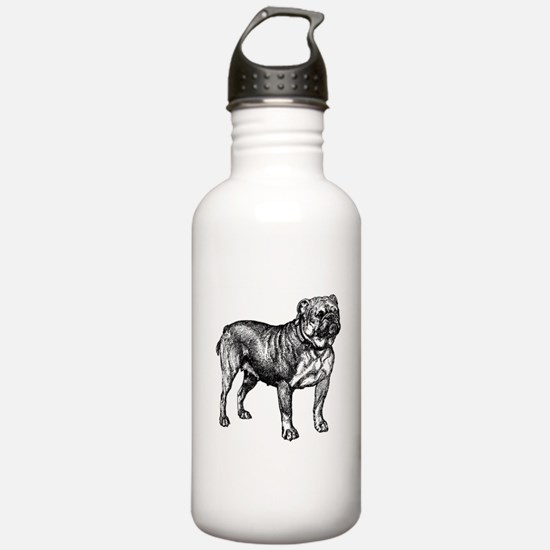 Vintage Bulldog Water Bottle