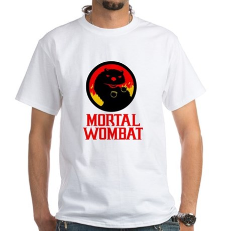 Mortal Wombat White T-Shirt