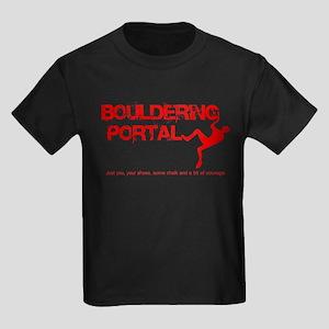 The Bouldering Portal Logo Kids Dark T-Shirt