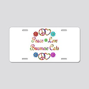 Burmese Cats Aluminum License Plate