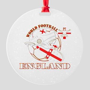 World Football England Design Round Ornament