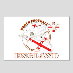 World Football England Design Postcards (Package o