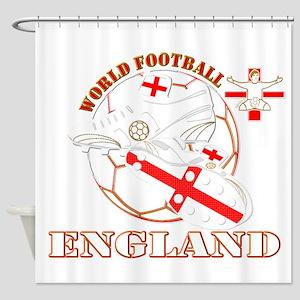 World Football England Design Shower Curtain