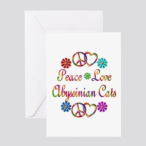 Abyssinian Cats Greeting Card