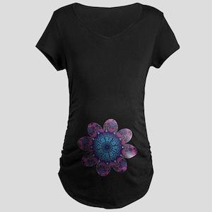 Flower Daydream Maternity Dark T-Shirt