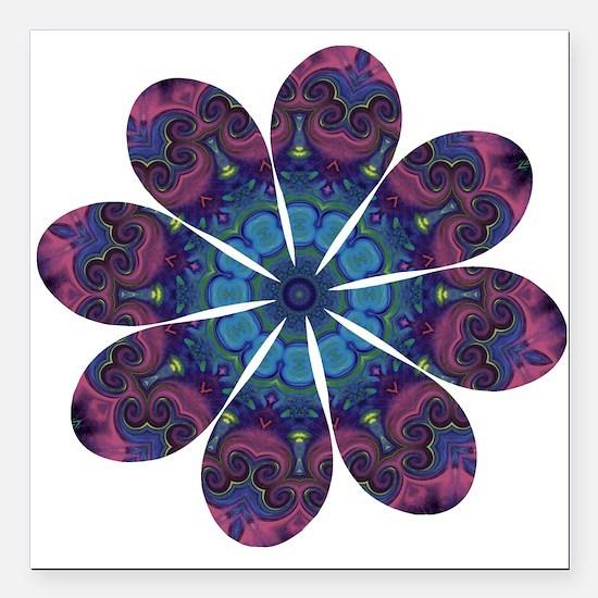 "Flower Daydream Square Car Magnet 3"" x 3"""