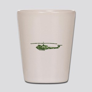 Huey Helicopter Shot Glass