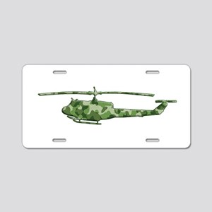 Huey Helicopter Aluminum License Plate