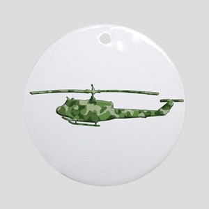 Huey Helicopter Ornament (Round)