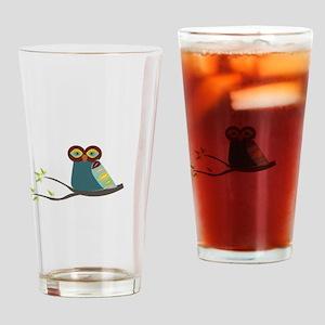 Mid Century Modern Owl Drinking Glass