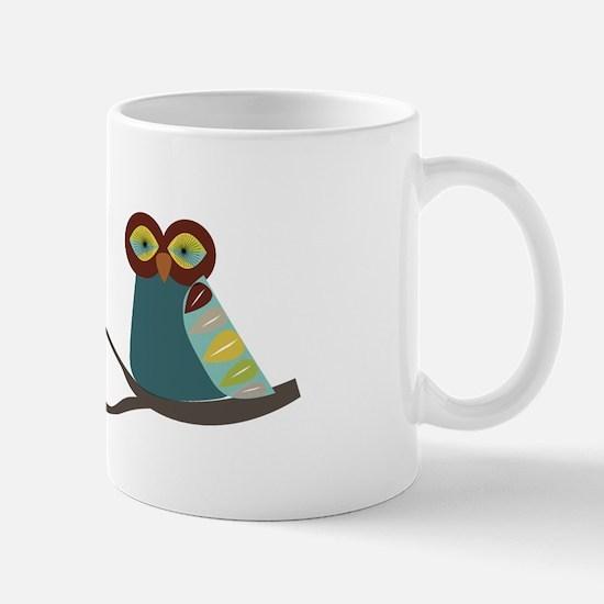 Mid Century Modern Owl Mug