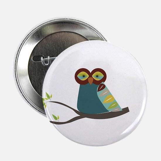 "Mid Century Modern Owl 2.25"" Button"