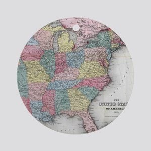 Vintage United States Map (1853) Round Ornament