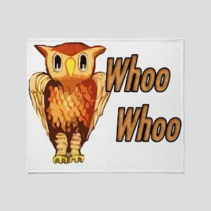 whooowl Throw Blanket