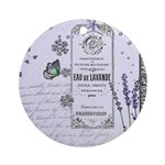 Girly Purple Vintage Collage Ornament (Round)