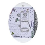 Girly Purple Vintage Collage Ornament (Oval)