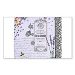 Girly Purple Vintage Collage Sticker (Rectangle)