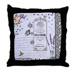 Girly Purple Vintage Collage Throw Pillow