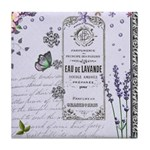 Girly Purple Vintage Collage Tile Coaster