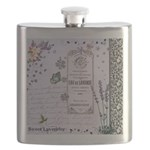 Girly Purple Vintage Collage Flask