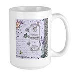 Girly Purple Vintage Collage Large Mug
