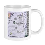 Girly Purple Vintage Collage Mug