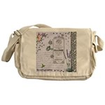 Girly Purple Vintage Collage Messenger Bag
