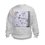 Girly Purple Vintage Collage Kids Sweatshirt