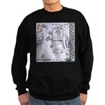 Girly Purple Vintage Collage Sweatshirt (dark)