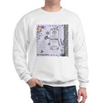 Girly Purple Vintage Collage Sweatshirt